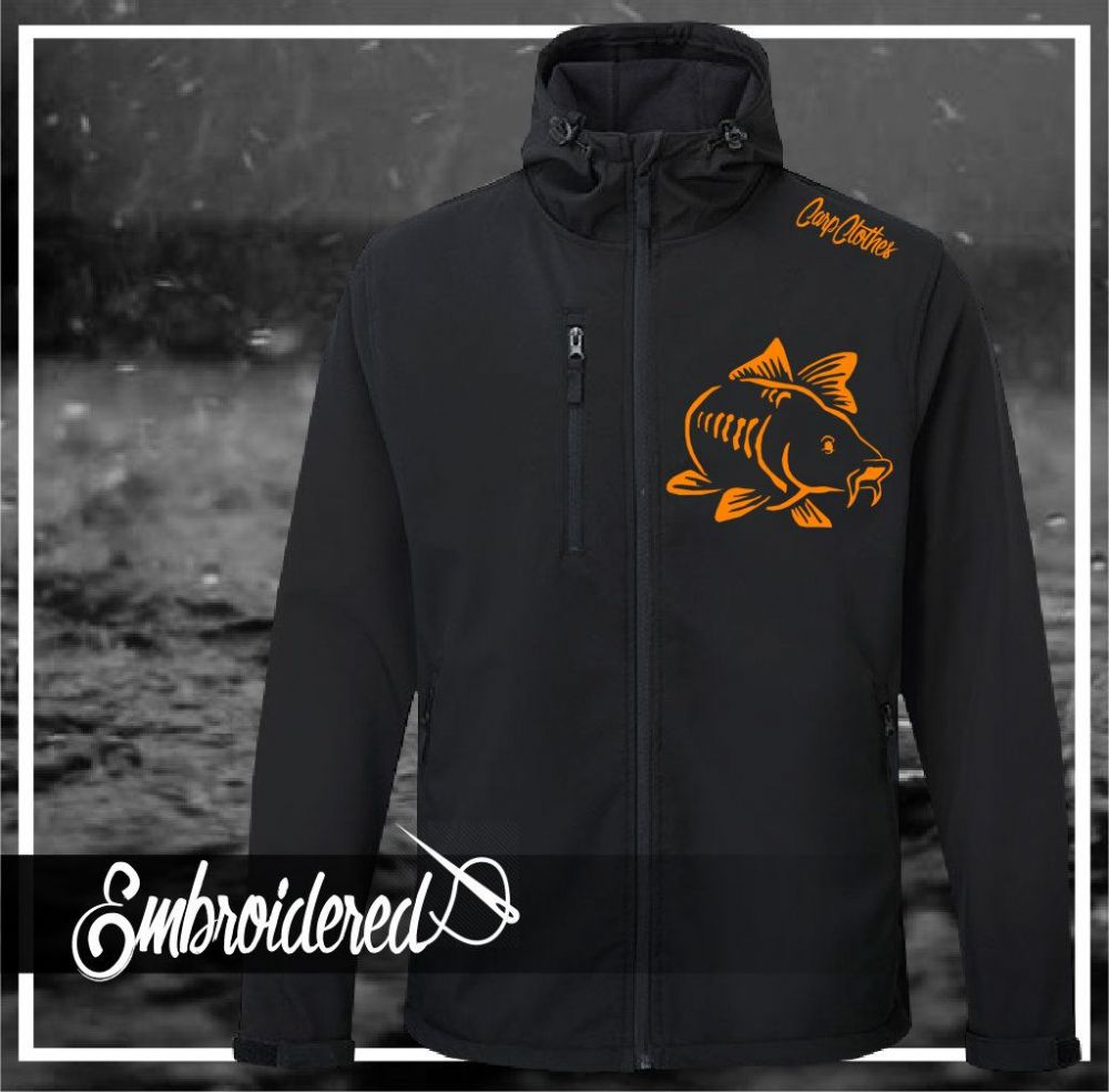 003 EMBROIDERED HOODED SOFTSHELL JACKET